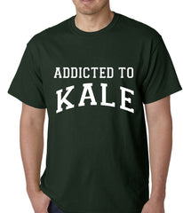Addicted to Kale Mens T-shirt Forest Green
