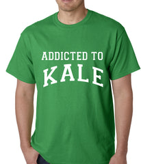 Addicted to Kale Mens T-shirt Kelly Green