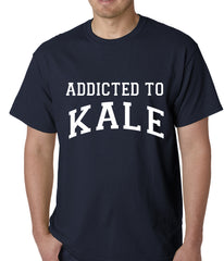 Addicted to Kale Mens T-shirt Navy Blue