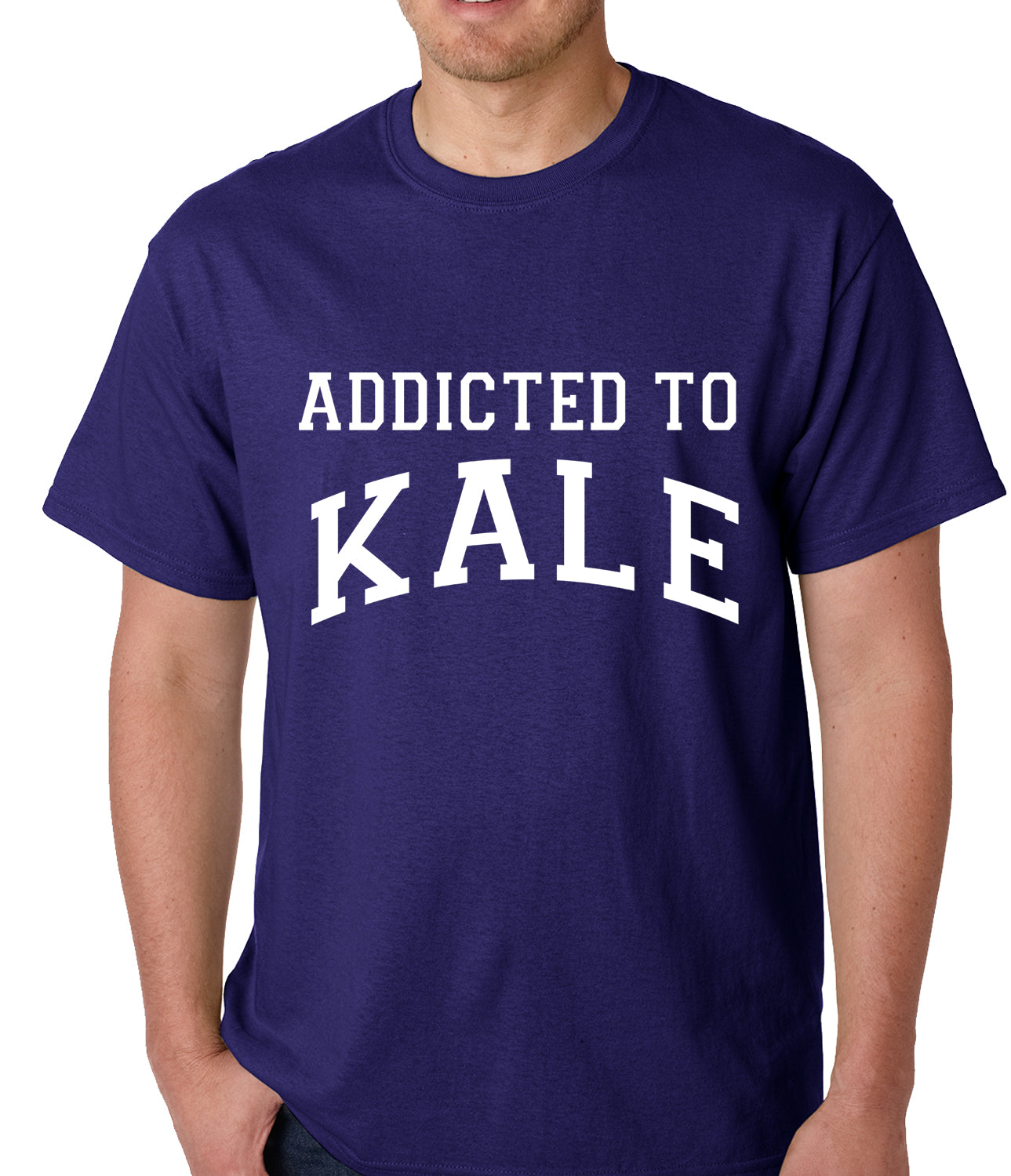 Addicted to Kale Mens T-shirt Purple