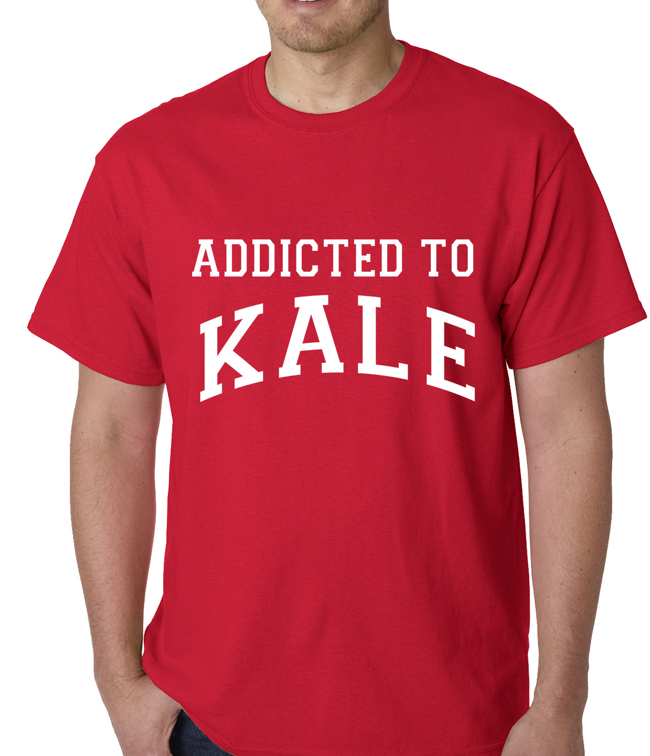 Addicted to Kale Mens T-shirt Red