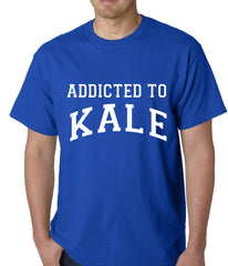 Addicted to Kale Mens T-shirt Royal Blue
