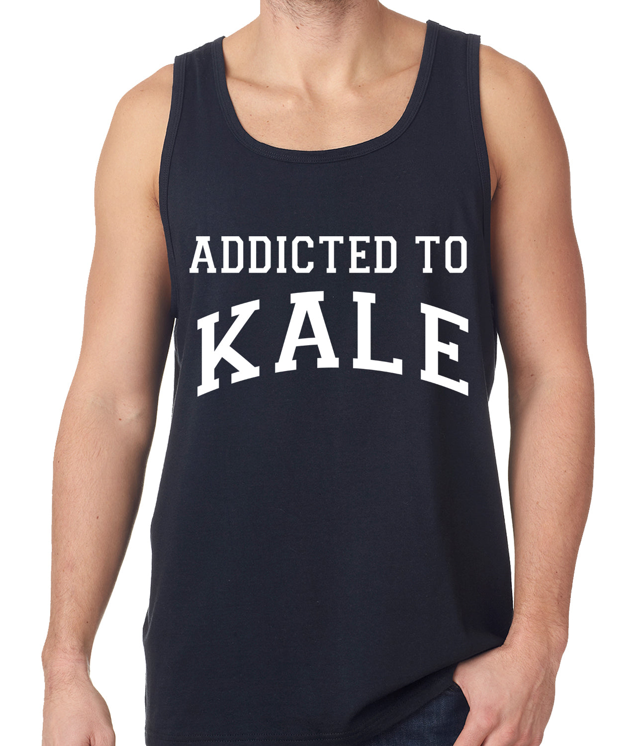 Addicted to Kale Tank Top Black