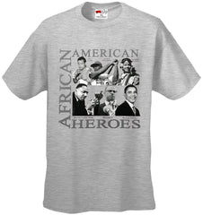 African American Hero Icons Mens T-shirt Heather Grey