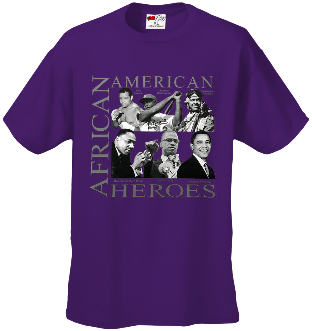 African American Hero Icons Mens T-shirt purple