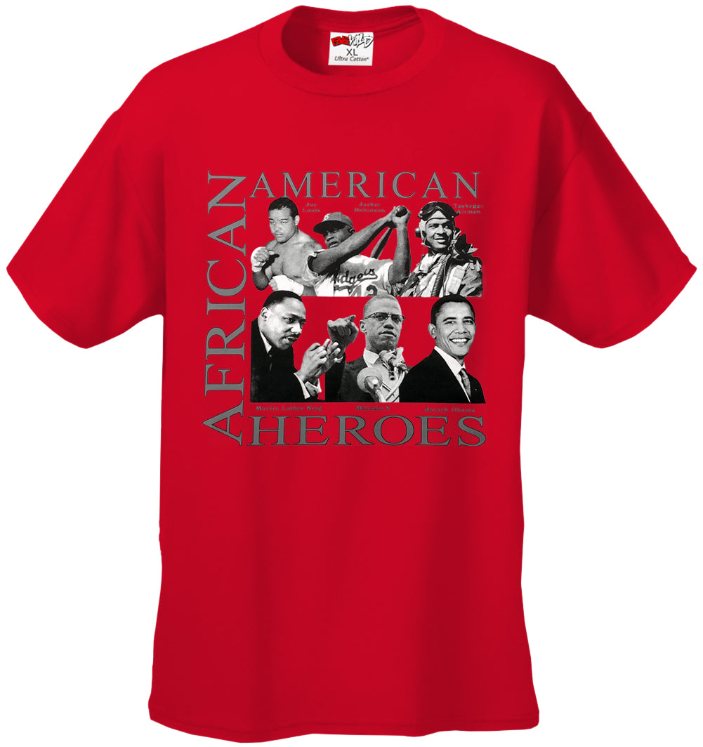 African American Hero Icons Mens T-shirt Red