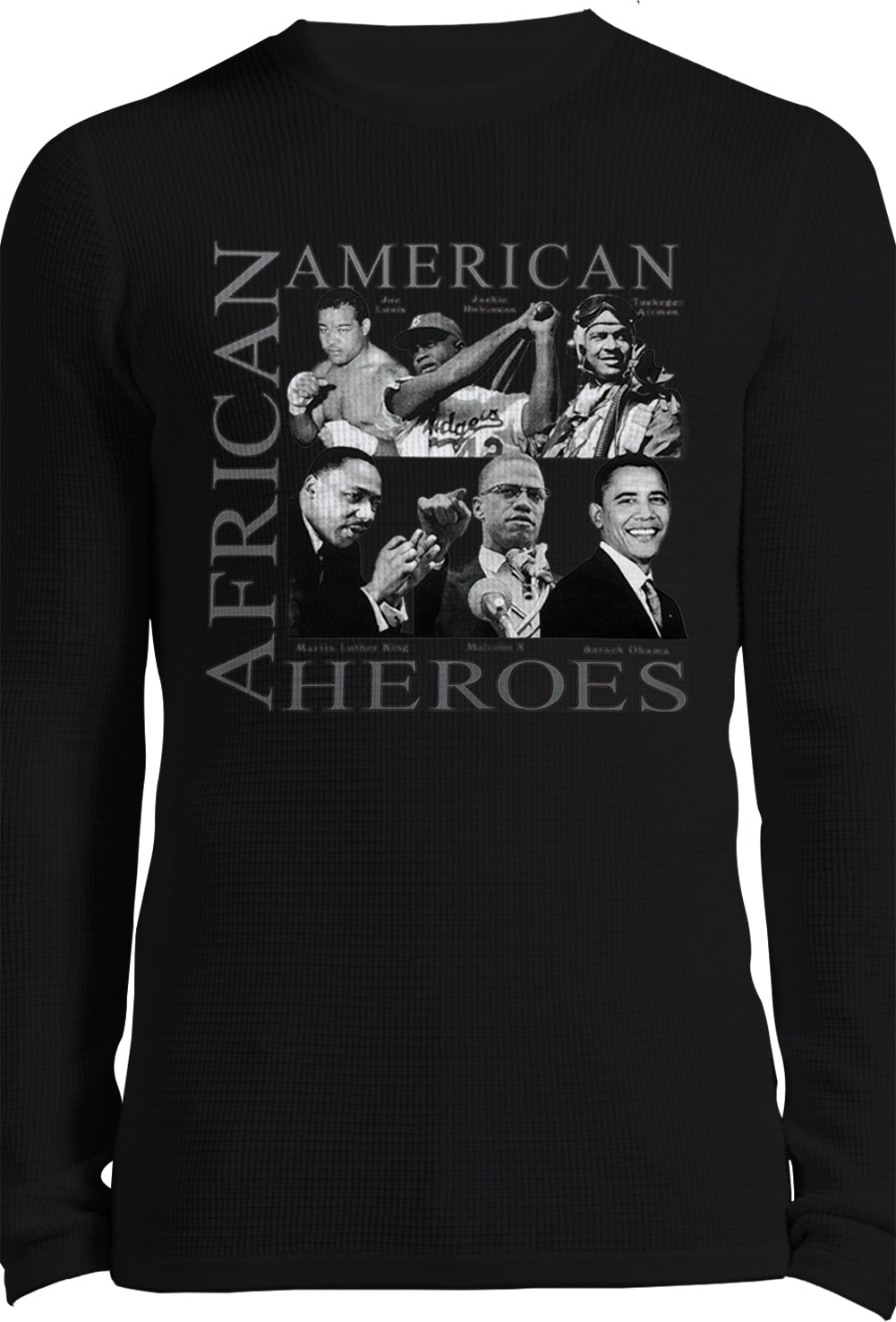 African American Hero Long Sleeve Shirt