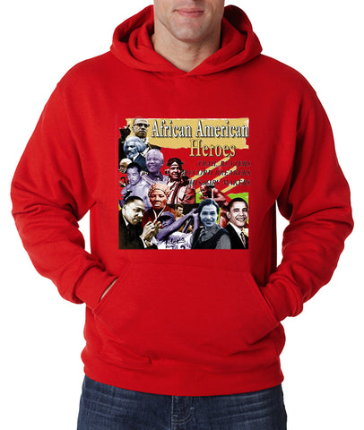 African American Heroes and Record Breakers Adult Hoodie