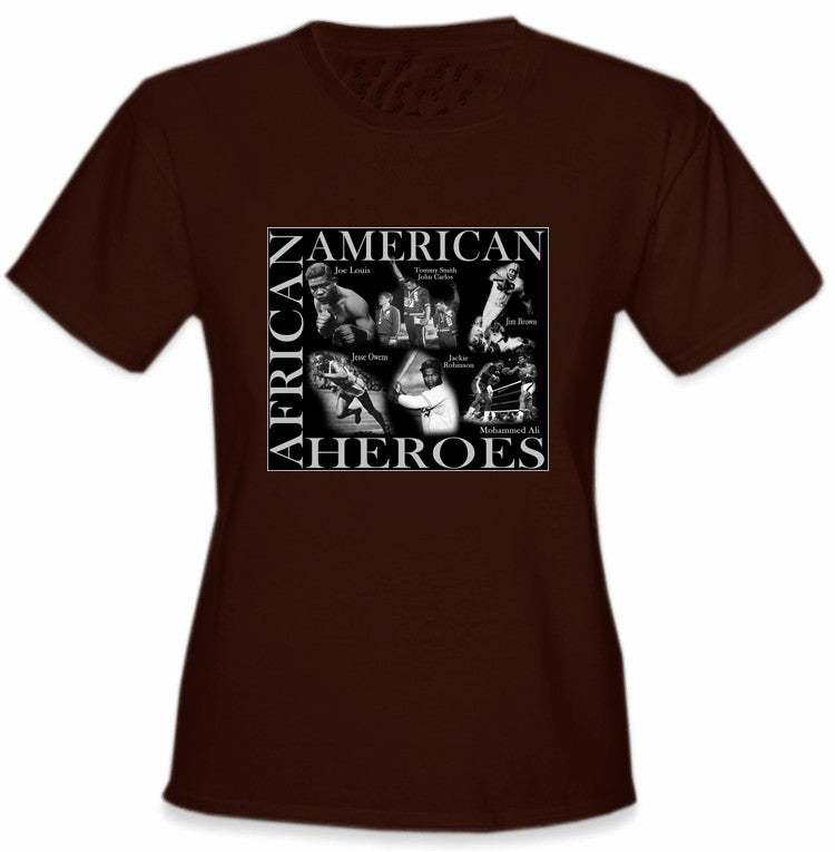 African American Sports Heroes Girl's T-Shirt