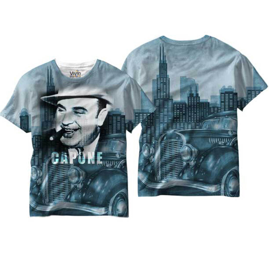 Al Capone All Over Sublimation Print Mens T-shirt View