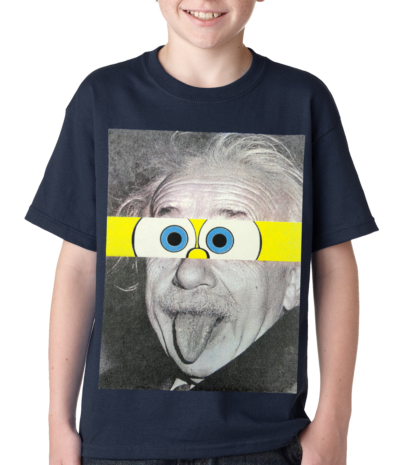Albert Sponge-stein Kids T-shirt Navy Blue