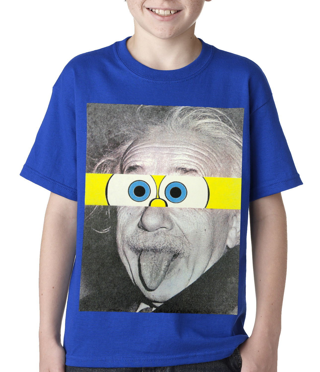 Albert Sponge-stein Kids T-shirt Royal Blue
