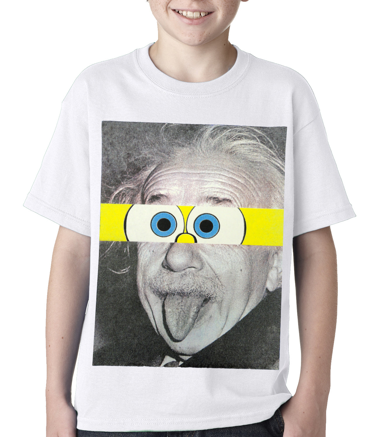 Albert Sponge-stein Kids T-shirt White