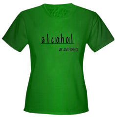Alcohol Anti-Drug Girls T-Shirt Kelly Blue