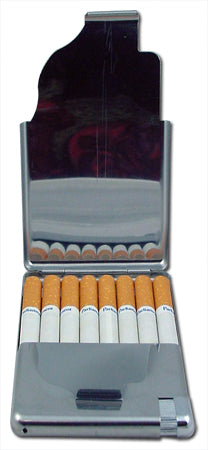 All In One Cigarette Case With cigarette Lighter  (For Regular Size Only)