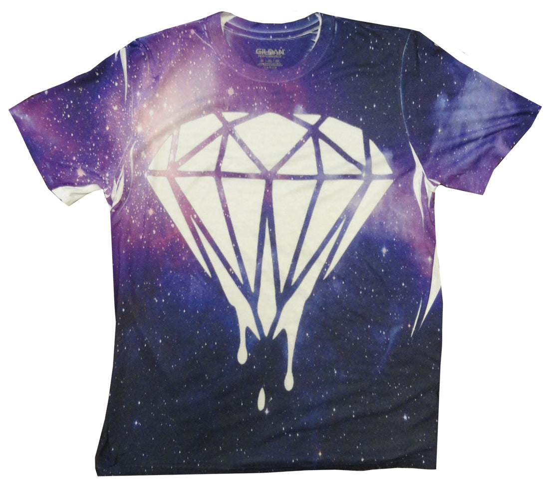 All Over Printed Galaxy Diamond Drip Men's T-Shirt