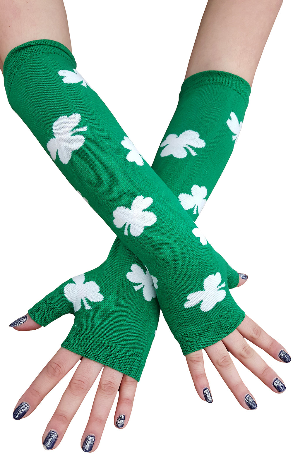 All Over Shamrocks Arm Warmers both Hand