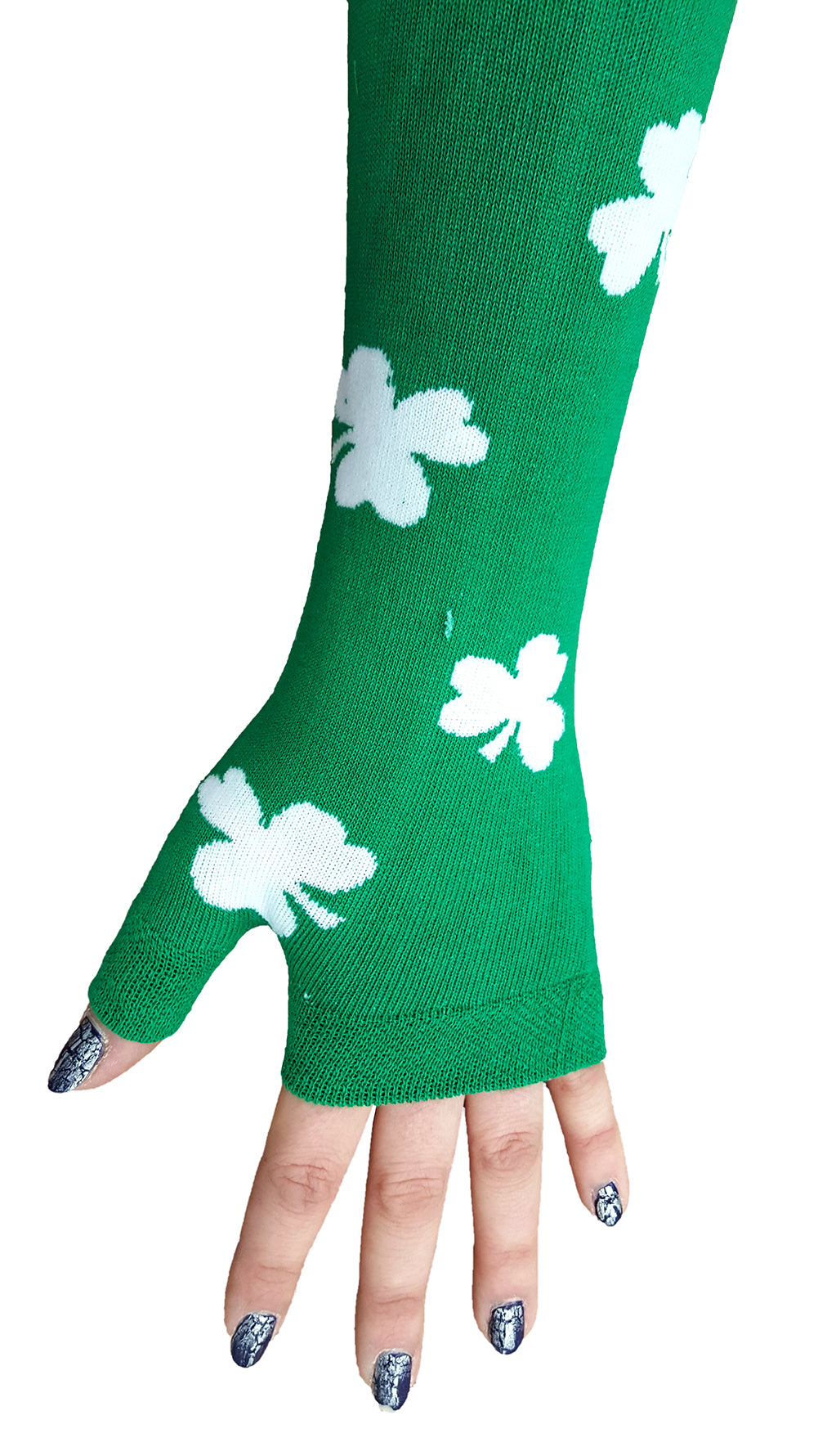 All Over Shamrocks Arm Warmers Left Hand