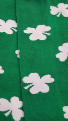 All Over Shamrocks Arm Warmers (Green with White Shamrocks)