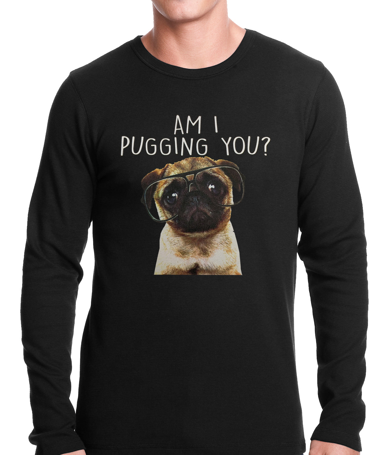 Am I Pugging You Funny Pug Thermal Shirt