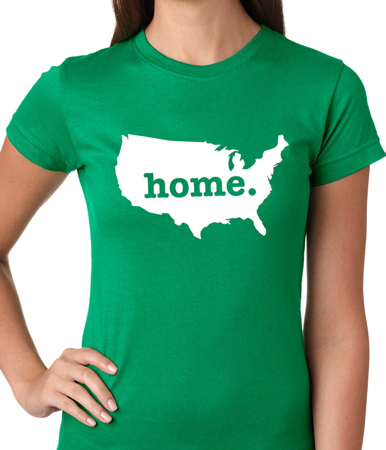 America is Home Girls T-shirt Kelly Green