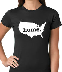 America is Home Girls T-shirt Black