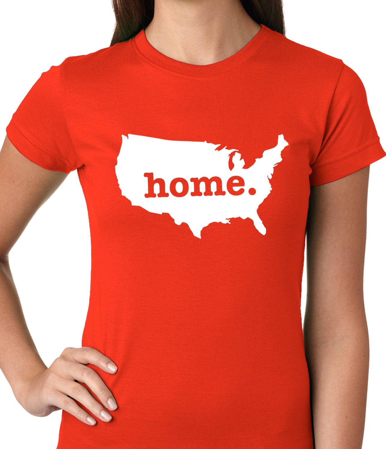 America is Home Girls T-shirt Orange