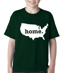 America is Home Kids T-shirt Forest Green