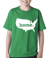 America is Home Kids T-shirt Kelly Green