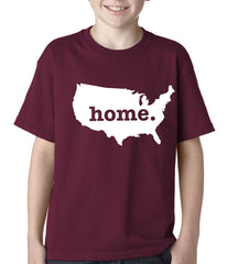 America is Home Kids T-shirt Maroon]