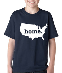 America is Home Kids T-shirt Navy Blue