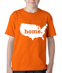 America is Home Kids T-shirt Orange