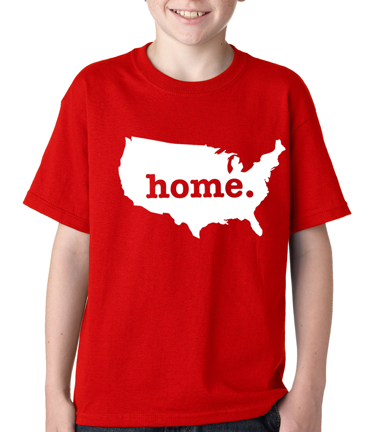 America is Home Kids T-shirt Red