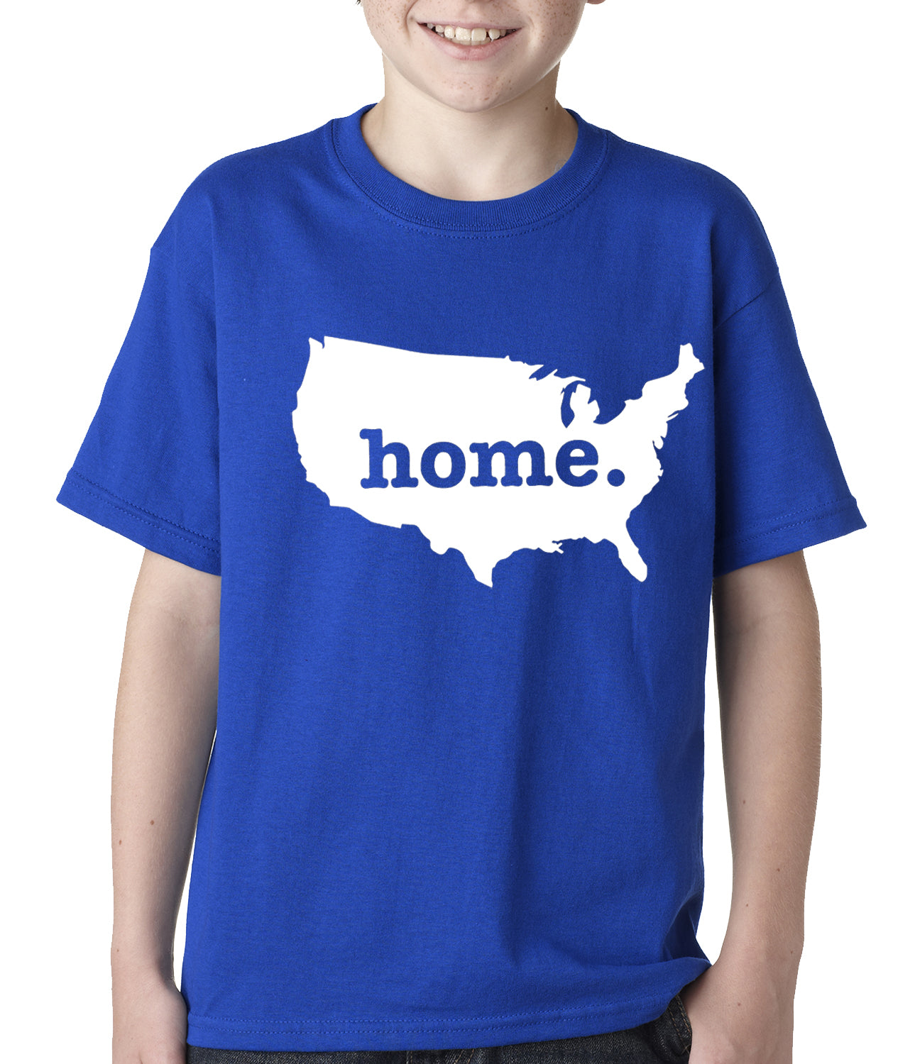 America is Home Kids T-shirt Royal Blue
