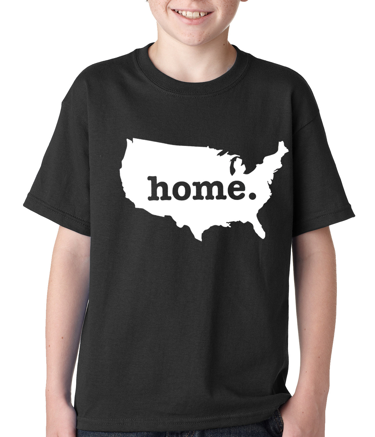 America is Home Kids T-shirt Black