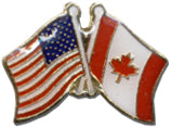 American And Canadian Flag Lapel Pin