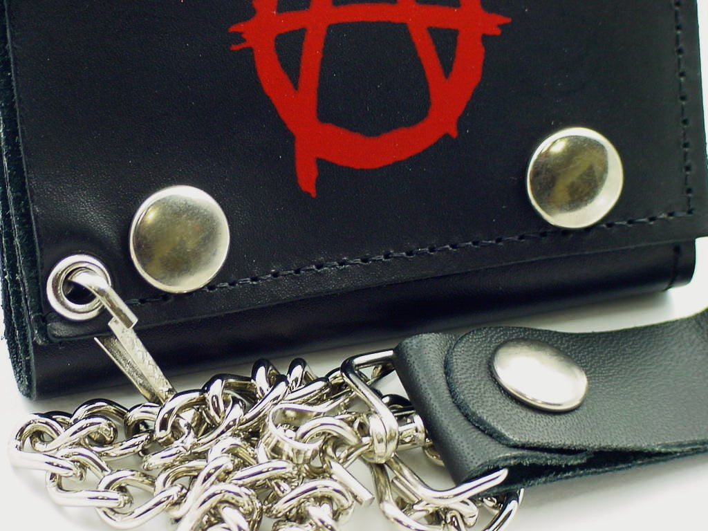 Anarchy Genuine Leather Chain Wallet
