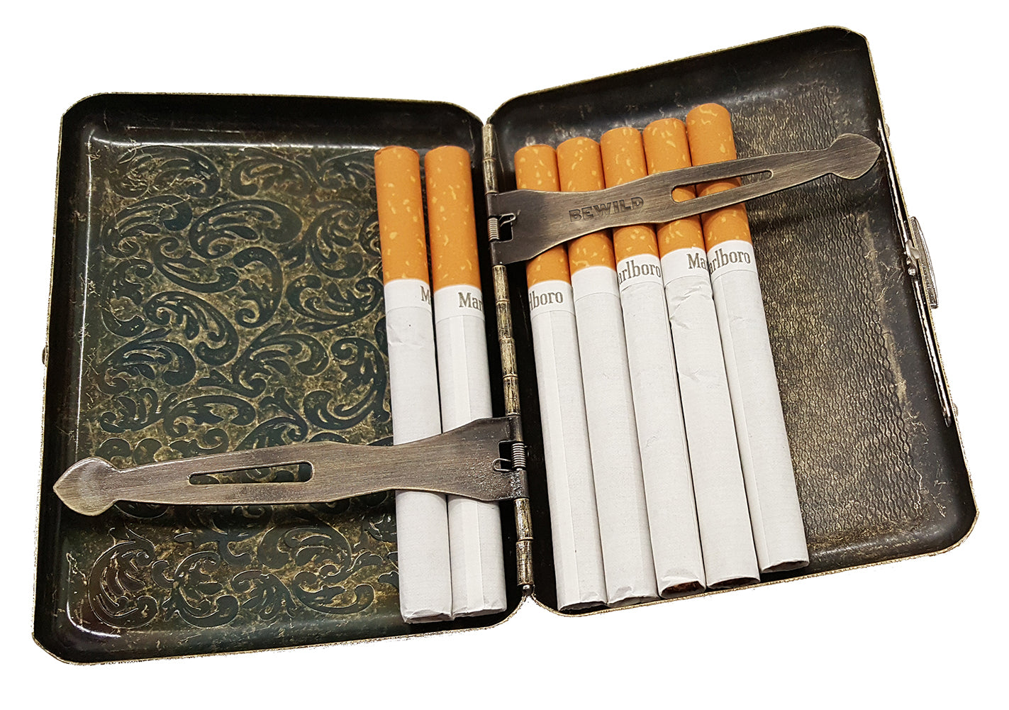 Cigarette Case (Regular Size Cigarettes) Inside