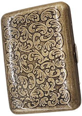 Antique Brass Paisley Cigarette Case