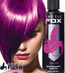 Arctic Fox Semi Permanent Hair Dye - 8 Ounce Virgin Pink #7