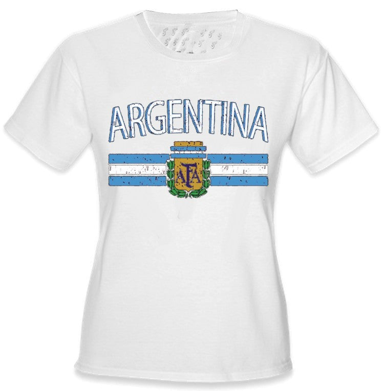 Argentina Vintage Flag International White