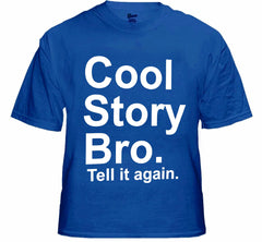 As Seen On Jersey  - Cool Story Bro. Tell It Again. Men's T-Shirt