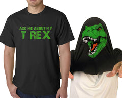 Ask Me About My T REX Mens T-shirt