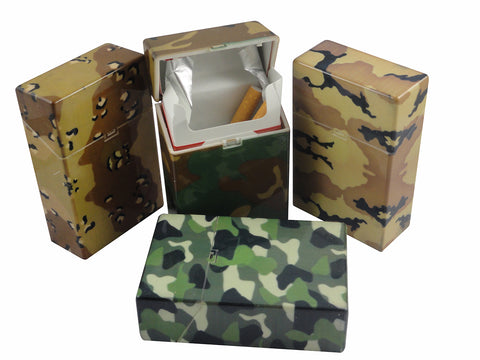 Assorted Camouflage Flip Top Cigarette Strong Box (For Regular Size Only)