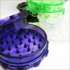 Herb Grinders - Assorted Economy Acrylic Herb Grinder Blue