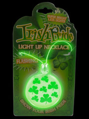 Assorted Green Light Up Irish St. Patrick's Day Necklace