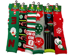 Assorted Holiday and Christmas Crew Calf-High Socks (3 Pack)