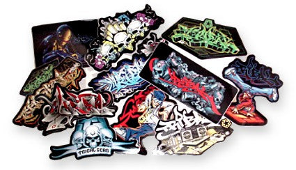 Assorted Tribal Gear Stickers (6 Pack)