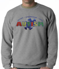 Autism Awareness - Accept, Understand, Love Adult Crewneck