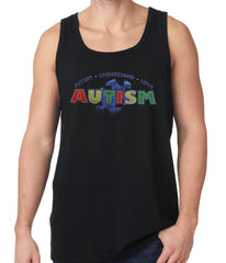 Autism Awareness - Accept, Understand, Love Tank Top Black
